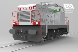 CFD Diesel Locomotive Type TRIAX with Electric Traction